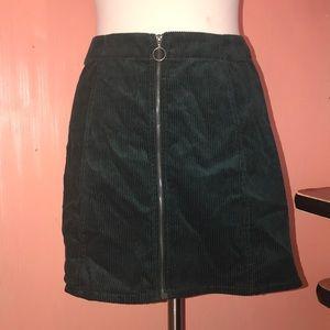 Teal Corduroy Skirt